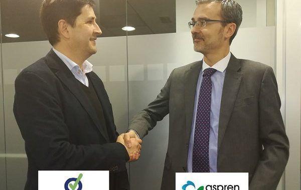 ASPREN (Asociación Nacional de Servicios de Prevención Ajenos) y Prevencionar firman un Convenio de Colaboración