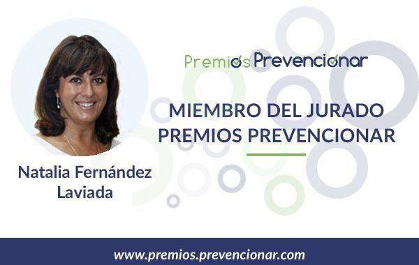 Natalia Fernández Laviada miembro del Jurado de los Premios Prevencionar 2018