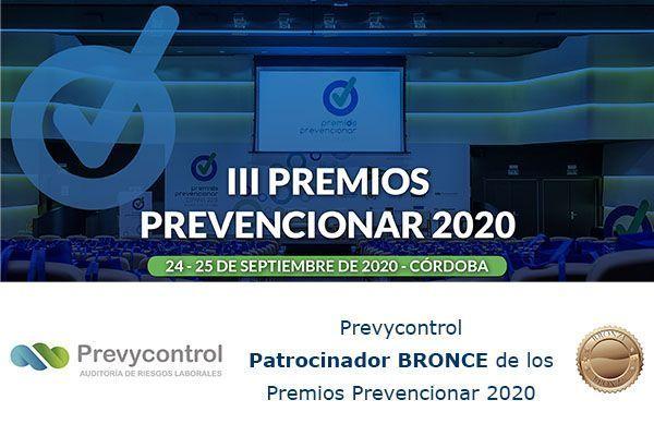 Prevycontrol Patrocinador BRONCE de los Premios Prevencionar 2020
