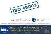 Curso ISO 45001 - Último día de inscripción #Bilbao