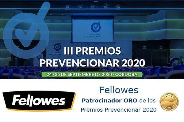 Fellowes Patrocinador ORO de los Premios Prevencionar 2020