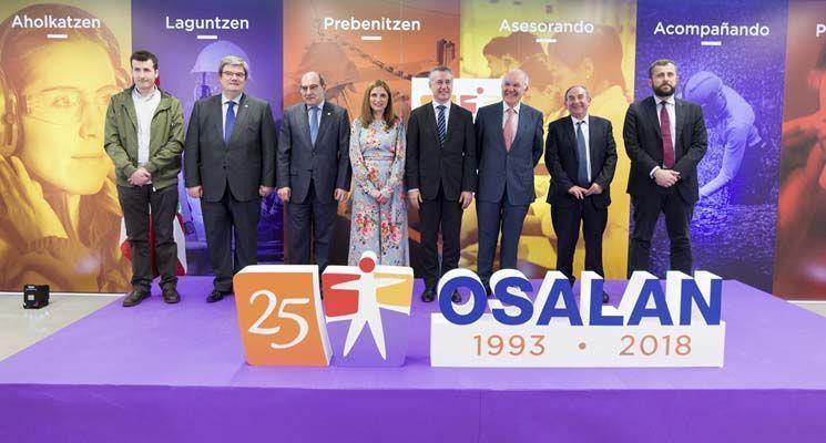 Iñigo Urkullu, ha presidido el 25 aniversario de Osalan, el Instituto Vasco de Seguridad y Salud Laborales