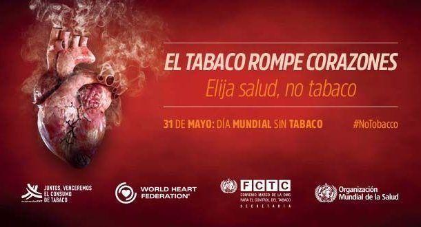 Día Mundial Sin Tabaco, 31 de mayo de 2018