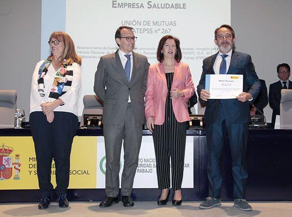 """Unión de Mutuas premiada como """"Empresa Saludable"""" por el Ministerio de Empleo"""