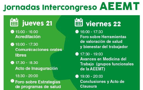 Programa Jornadas Intercongreso AEEMT: Mejorando la salud y el bienestar del trabajador