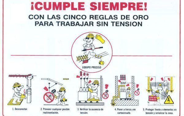 PrevenConsejos: Riesgo eléctrico (las 5 reglas de oro)