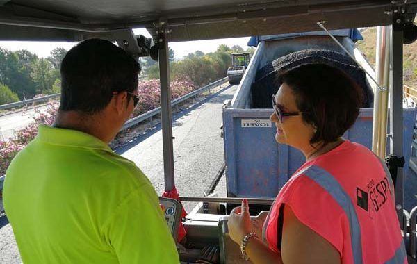 Seguridad y salud en las obras de asfaltado de la Autovía del Noroeste