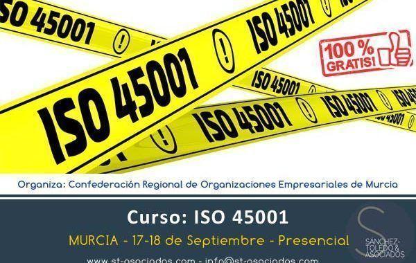 """ST&Asociados impartirá seminario ISO 45001 """"Sistemas de gestión de la seguridad y la salud en el trabajo"""" para CROEM"""
