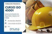 Curso ISO 45001 presencial en Madrid – 2 de octubre de 2018
