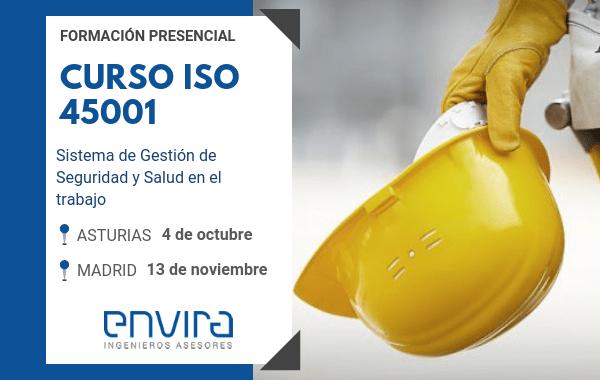 Curso ISO 45001 en Madrid y Asturias – Formación presencial