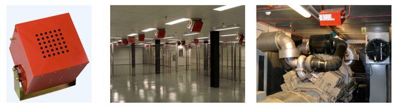 generadores de aerosol condensado para sistemas fijos de extinción