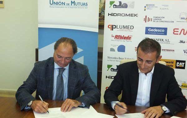 Los empresarios de la Construcción y Unión de Mutuas refuerzan su colaboración en la prevención de riegos y la salud laboral