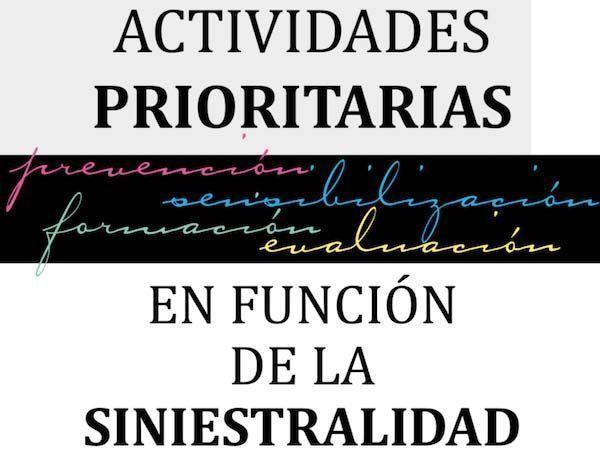 Actividades prioritarias en función de la siniestralidad. Año 2017