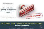 Curso ISO 45001: 2018 - Febrero 2019 - Madrid, Bilbao, Valencia, Baleares