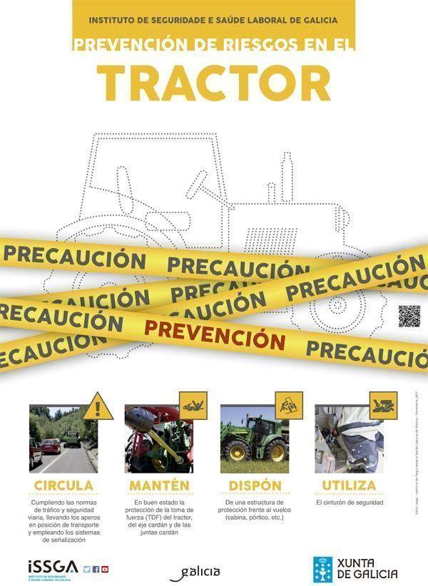 El ISSGA lanza una campaña de prevención de riesgos laborales en el uso de tractores