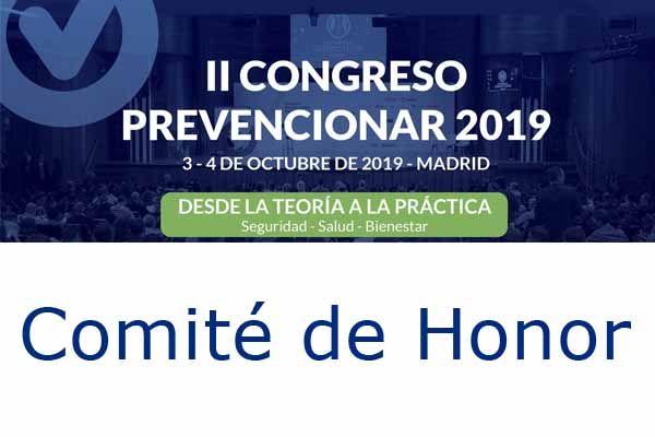 Comité de Honor del II Congreso Prevencionar 2019