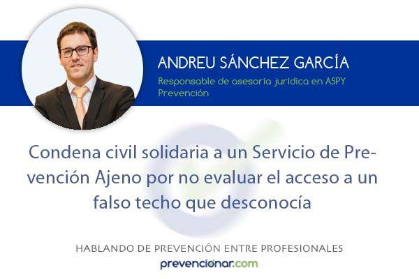Condena civil solidaria a un SPA por no evaluar el acceso a un falso techo que desconocía