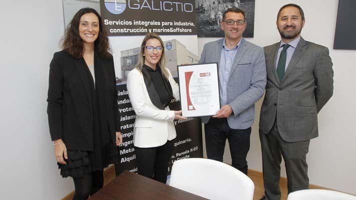 Galictio recibe la certificación ISO 45001 de seguridad y salud en el trabajo