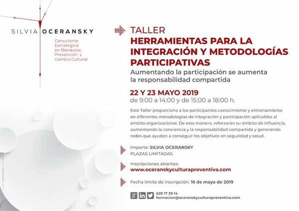 1 Plaza GRATIS: Taller de Herramientas para la Integración y Metodologías Participativas #Madrid #Presencial