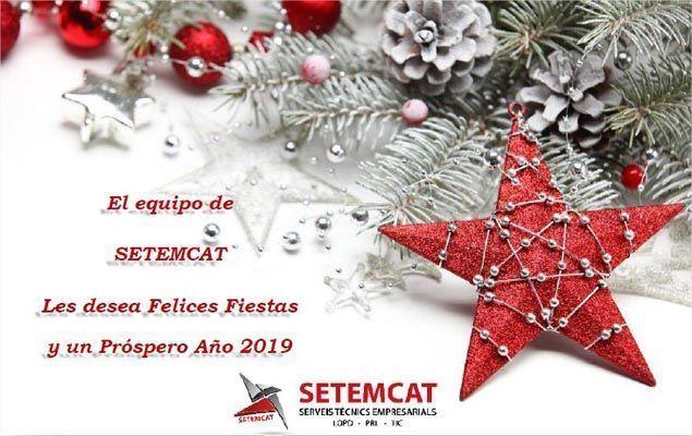 El equipo de SETEMCAT les desea Felices Fiestas y un Próspero Año 2019