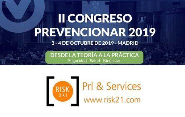 RISK XXI - Prl & Services patrocinador del II Congreso Prevencionar 2019