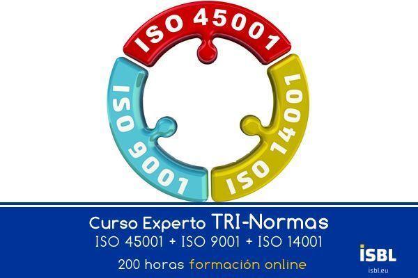 Curso Online: Experto TRI Normas: ISO 45001 + ISO 9001 + ISO 14001