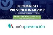 Quirónprevención patrocinador del Congreso Prevencionar 2019