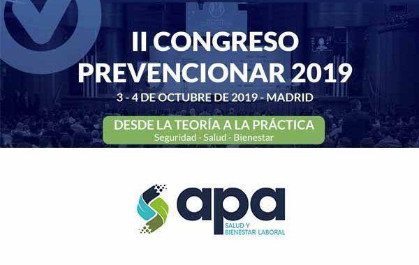APA Salud y Bienestar Laboral patrocinador del II Congreso Prevencionar 2019