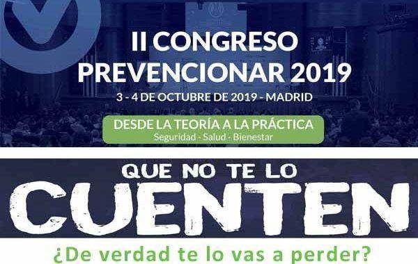 Más de 800 profesionales ya han confirmado su asistencia al II Congreso Prevencionar
