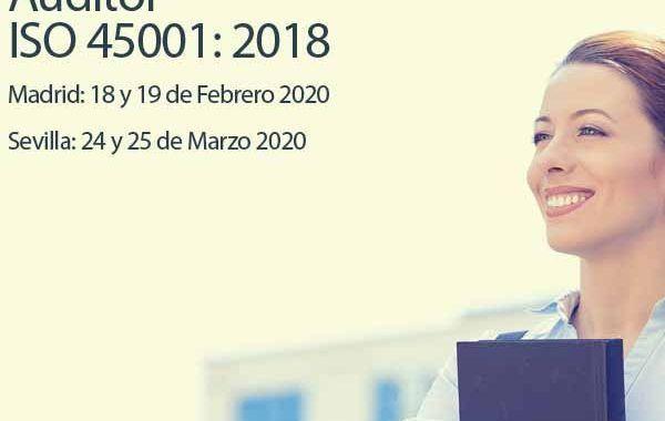 Curso: Auditor ISO 45001: 2018 - Madrid y Sevilla -