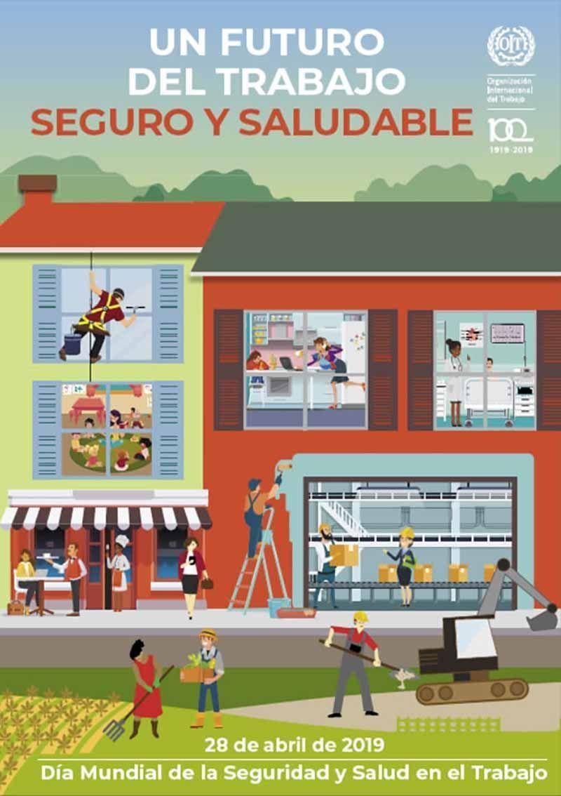 Póster para el día mundial de la seguridad y salud en el trabajo 2019