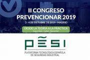 Pesi   Plataforma Tecnológica Española de Seguridad Industrial se suma al II Congreso Prevencionar