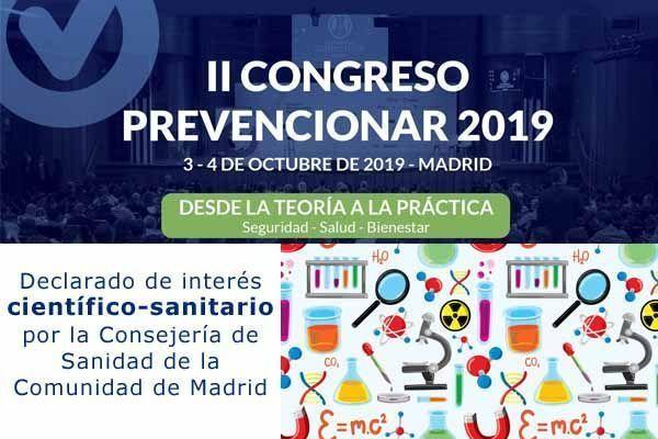 II Congreso Prevencionar: Declarado de interés científico-sanitario por la Consejería de Sanidad de la Comunidad de Madrid