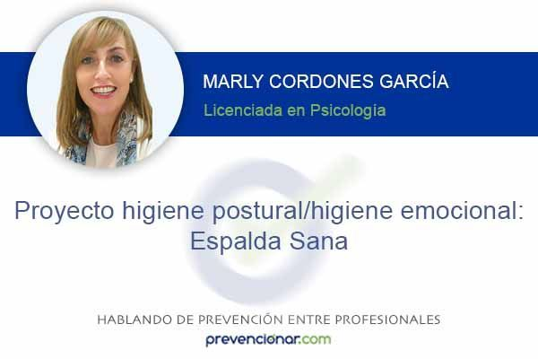 Proyecto higiene postural/higiene emocional: Espalda Sana