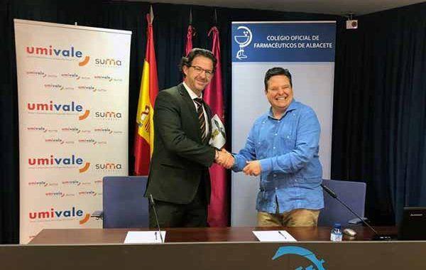 umivale firma un convenio de colaboración con el Colegio Oficial de Farmacéuticos de Albacete
