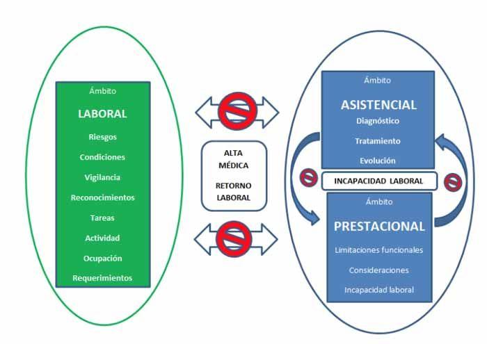 Ámbito competencial asistencial, prestacional y laboral e información médica