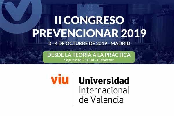 La Universidad Internacional de Valencia (VIU) se suma al II Congreso Prevencionar