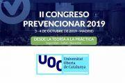 La Universitat Oberta  de Catalunya (UOC) se suma al II Congreso Prevencionar 2019