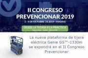 La nueva plataforma de tijera eléctrica Genie GS™-1330m se expondrá en el II Congreso Prevencionar