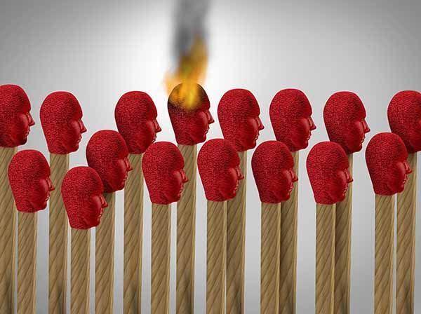 Síndrome de estar quemado por el trabajo o