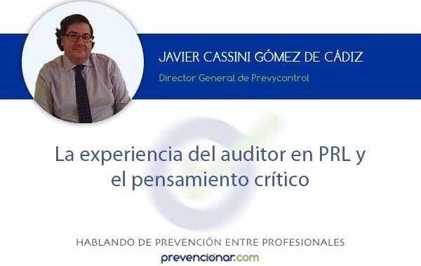 La experiencia del auditor en PRL y el pensamiento crítico