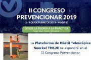 LaPlataforma de Mástil Telescópica Snorkel TM12E se expondrá en el II Congreso Prevencionar