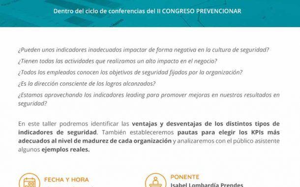 Invitación Taller: Cuadros de mando de seguridad de alto impacto #CongresoPrevencionar