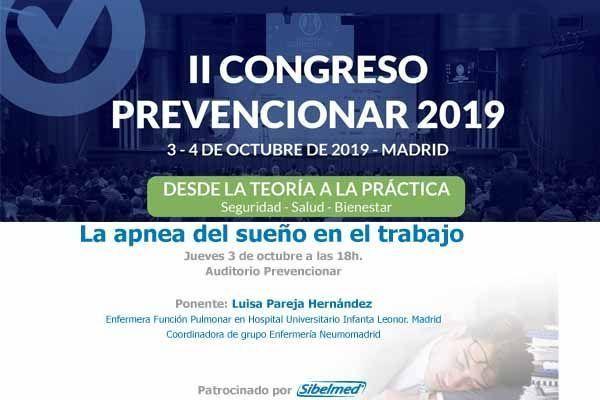 """Sibelmed te invita a la conferencia """"La apnea del sueño en el trabajo"""" en el #CongresoPrevencionar"""