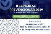 Horarios de presentación de papers en el #CongresoPrevencionar