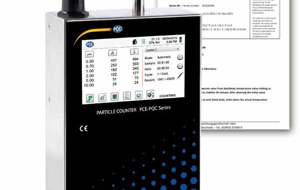PCE Instruments presenta su nueva gama de contadores de partículas