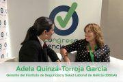 Entrevista a Dª Adela Quinzá-Torroja García en el «Chester» del Congreso Prevencionar