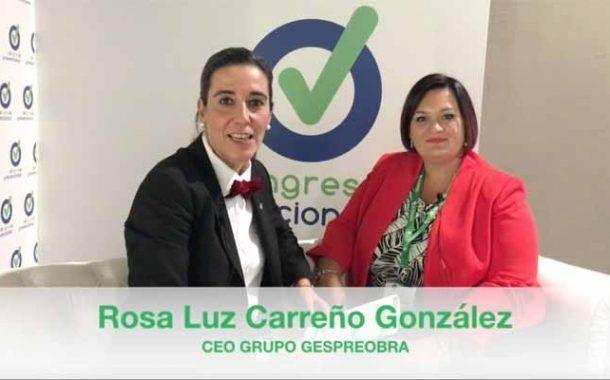 Entrevista a Rosa Luz Carreño ,en el «Chester» del Congreso Prevencionar