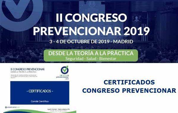 Certificados Congreso Prevencionar
