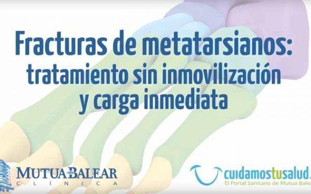 Mutua Balear presenta un tratamiento para fracturas de metatarsianos con apoyo inmediato